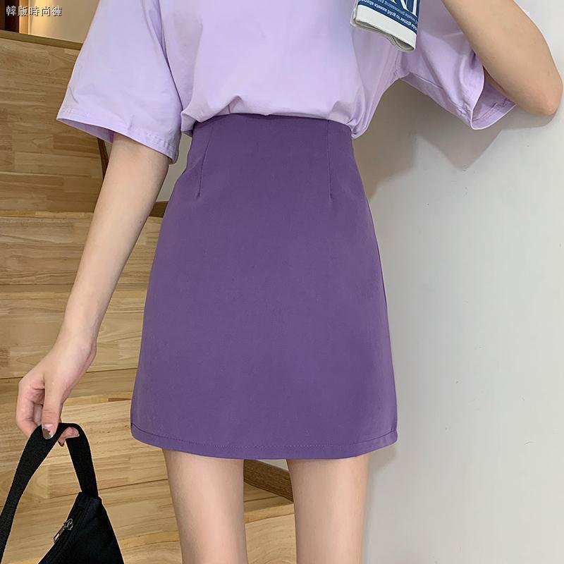 Chân Váy Chữ A Lưng Cao Màu Tím Thời Trang Cho Nữ