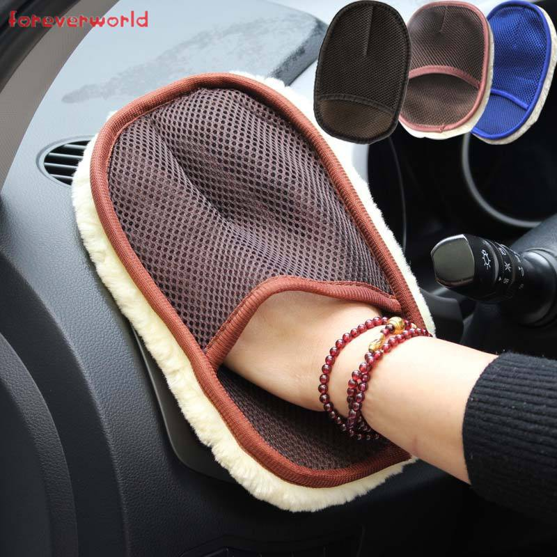 Hình ảnh Car Wash Cleaning Glove Car Motorcycle Artificial Wool Soft Washer Brush Car Care