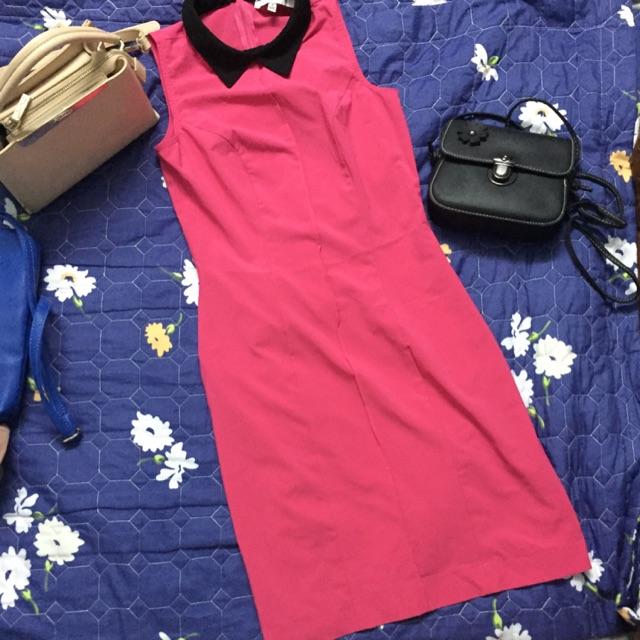 Thanh lý đầm thiết kế hồng cánh sen thương hiệu Hagatini