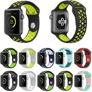 DÂY SILICONE APPLE WATCH NIKE / ĐEN - XANH LÁ / COTEETCI / 38MM [Martino_Store]