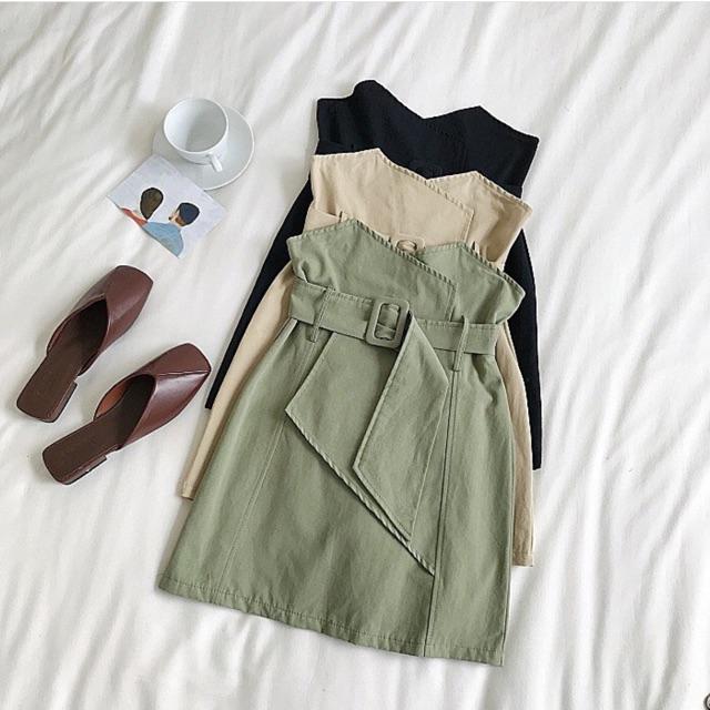 Chân váy kèm belt thời trang nữ
