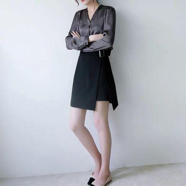 (Big size) chân váy xẻ cách điệu có quần trong
