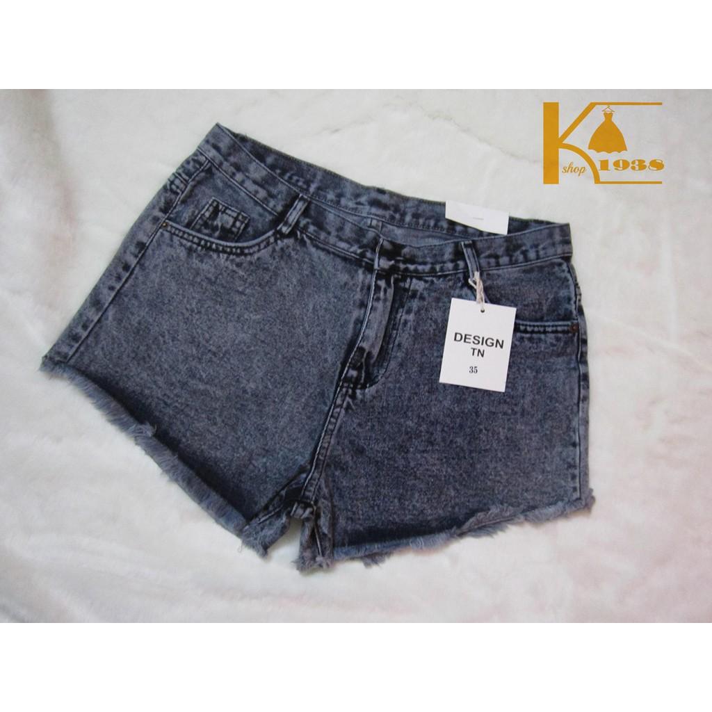 Quần Short Jean cotton hàng bigsize hình chụp thật