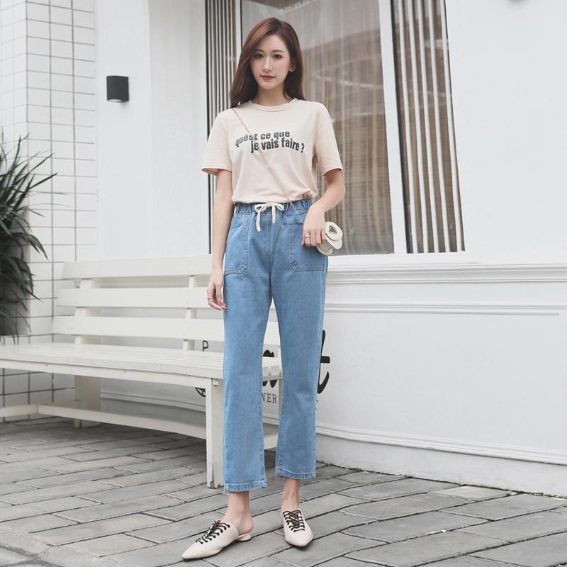 Quần Jeans Lưng Cao Phong Cách Vintage Cá Tính Cho Nữ