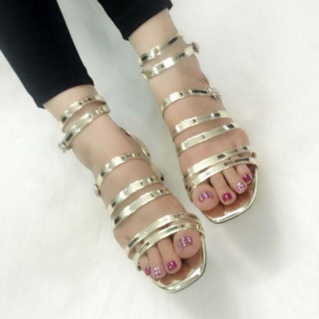 CL_Giày Sandal gót vuông