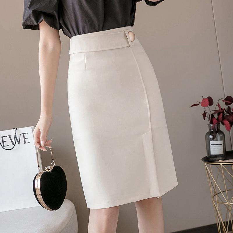 Chân Váy Lưng Cao Xẻ Tà Xinh Xắn Dành Cho Nữ 2020