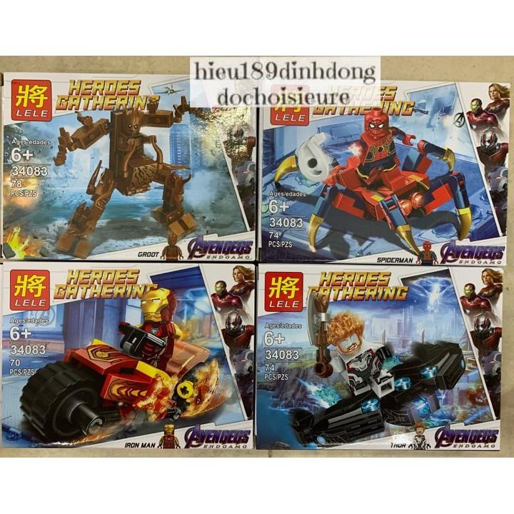 Lắp ráp xếp hình Lego siêu anh hùng 34083 : Cỗ máy và xe oto của người nhện (4in1) (Khách hàng chat chọn mẫu)