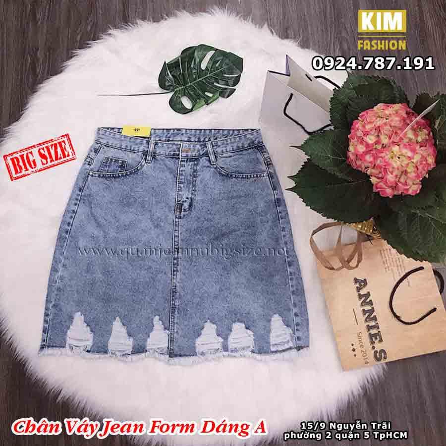 Chân váy jean bigsize VAD27 Size 30-35