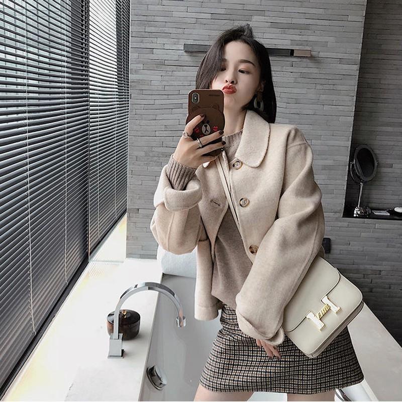 Bộ Áo Khoác Ngắn + Chân Váy Ca Rô Xinh Xắn Dành Cho Nữ Size S-xl