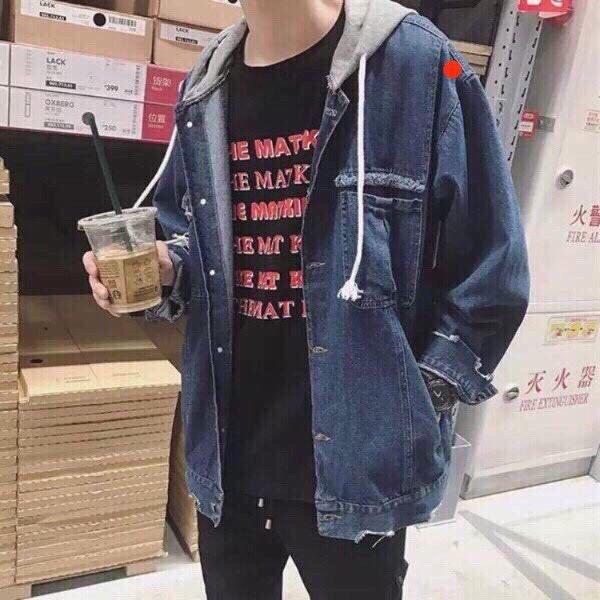 áo khoác jeans nam nón VNXK