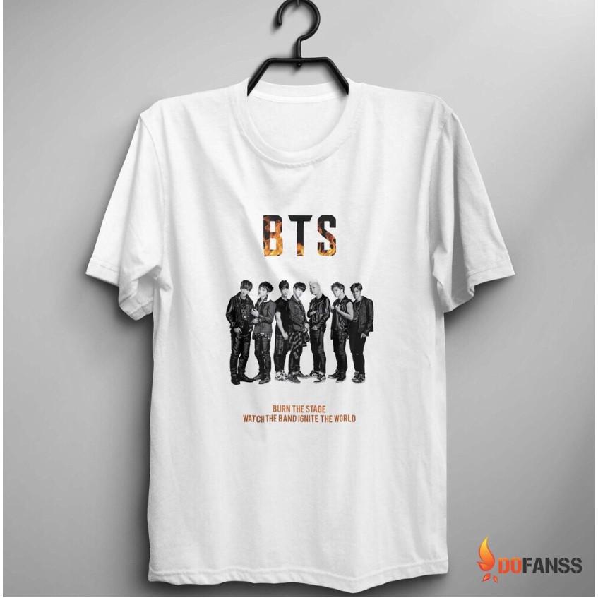 [Có thể đặt làm áo nhóm] Áo Thun BTS Team Fan Form Đẹp - PTC067