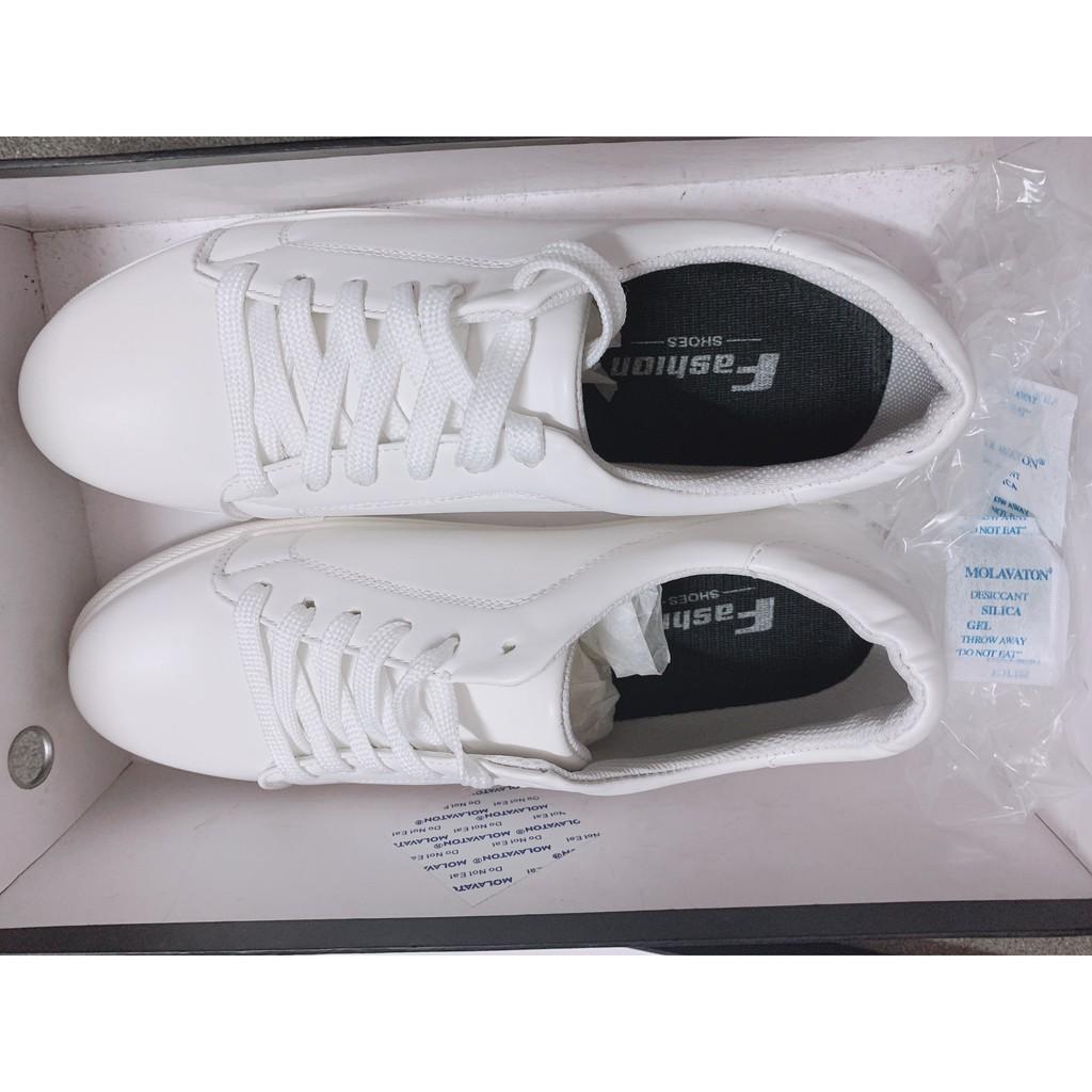 (SALE SỐC - Video cận cảnh) Giày sneaker trắng nam tính siêu đẹp