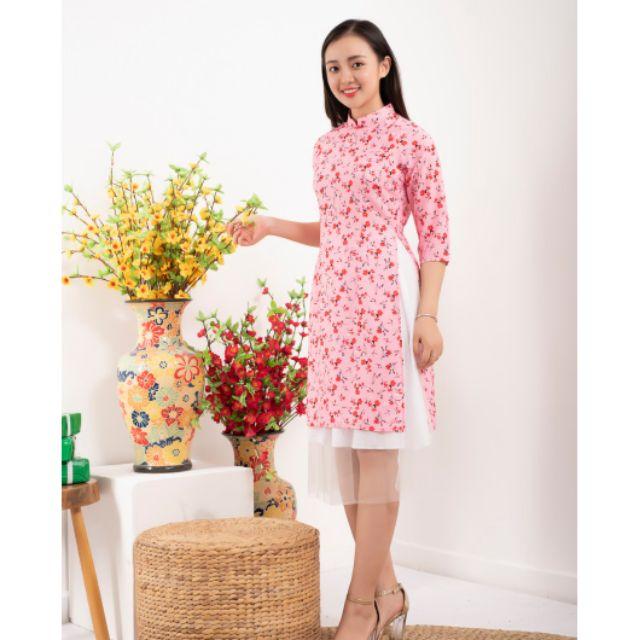 Sét áo dài cách tân kèm chân váy xinh sắn  FREESHIP thời trang nữ đẹp