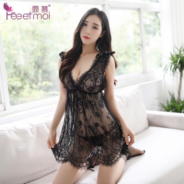 [DƯỚI 54kg] Sx455 váy ngủ sexy - đầm ngủ ren - SEXYHOUSE
