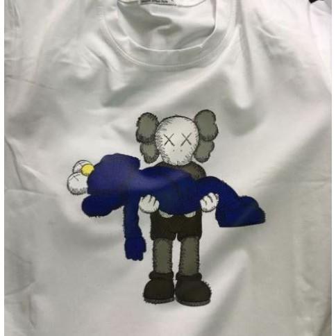 áo thun nam nữ tay ngắn không cổ 100% cotton in hình kaws bán chạy đủ size freeship loại 1 giá rẻ tốt 68F50K