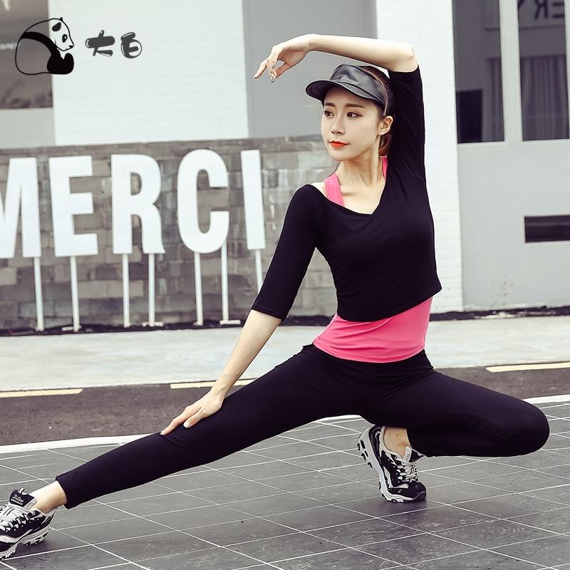 Set Đồ Tập Gồm Bra+áo Thun Tay Ngắn+quần Short Cho Nữ