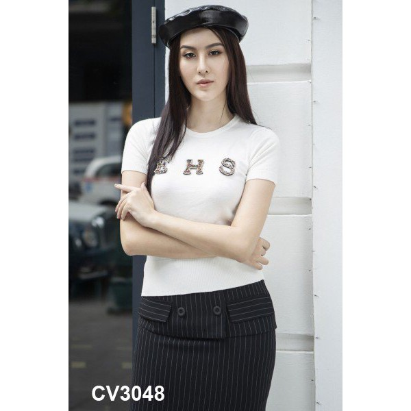 Chân váy sọc thời trang thanh lịch 3048