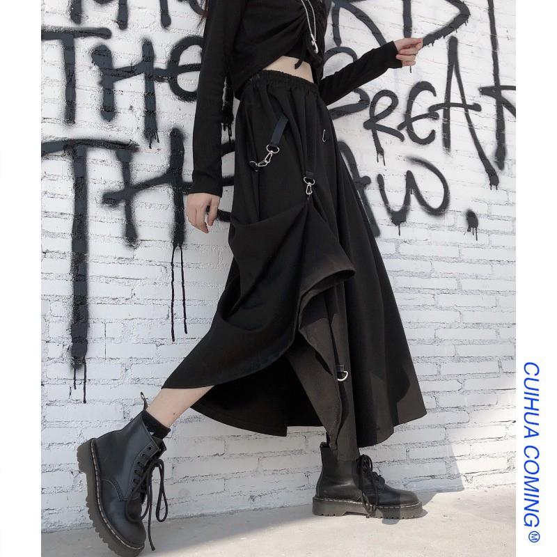 Chân Váy Chữ A Lưng Cao Thời Trang Hàn Cho Nữ