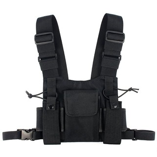 ♫♥♫Radios Pocket Radio Chest Harness Chest Front Pack Pouch Holster Vest Rig Carry Case for 2 Way
