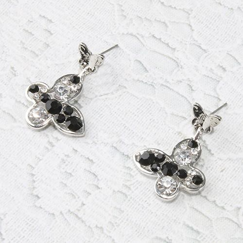BÔNG TAI SHOP MISS A Butterfly & Clover Dangle Earrings