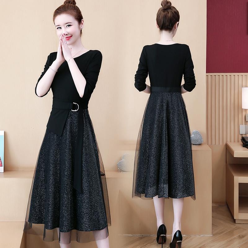 đầm nữ tay dài kiểu dáng thời trang phong cách hàn quốc