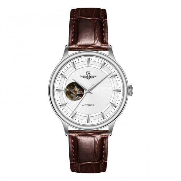 [Mã WTCHMALLTET hoàn 100k xu đơn 499K] Đồng hồ nam Sunrise CHÍNH HÃNG SG8874, dây da