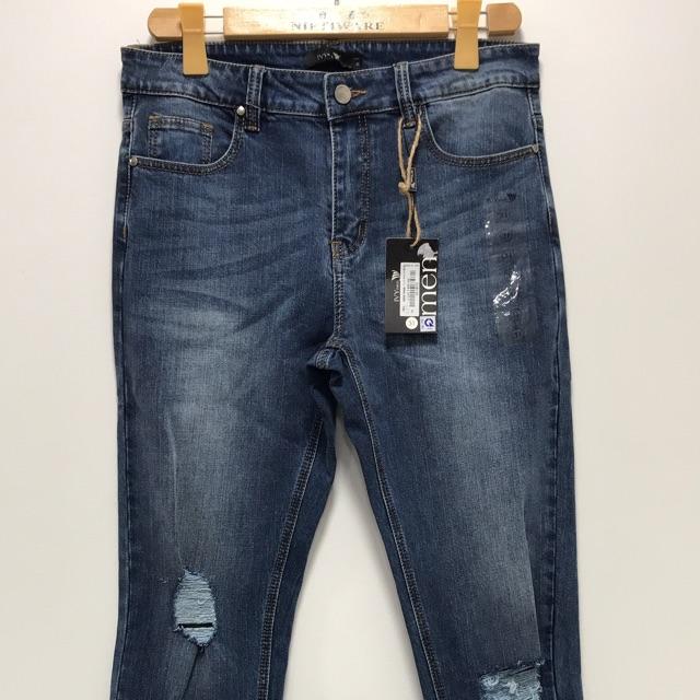 Quần jeans xanh nam Ivymoda sz 31 (sz L) newtag