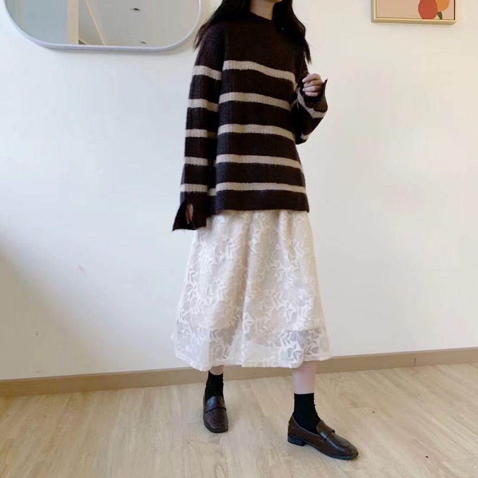 Chân váy ren dài 3012