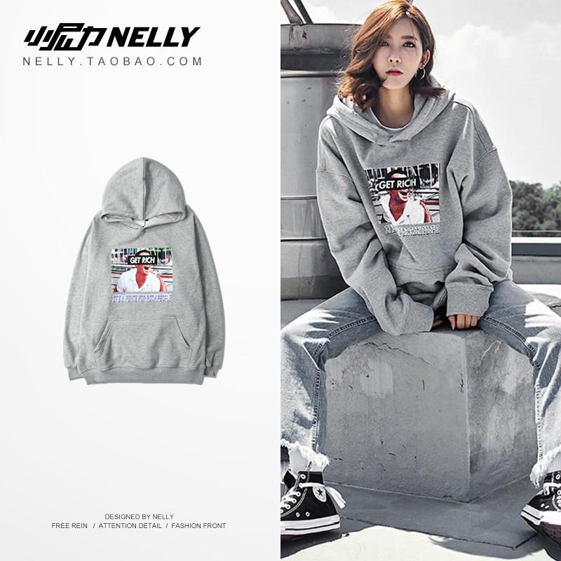 Áo hoodie get rich trong có lót lông