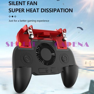 <SCS>-iPega PG-9123 Telescopic Mobile Gamepad for PUBG w/Cooling Fan Power Bank