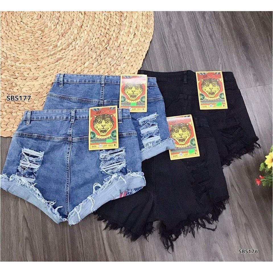 Thời trang nữ bigsize (55kg-95kg) Quần jeans wash rách sau cực kì độc đáo và lạ mắt. Bigsize 33-38. Mã SBS177