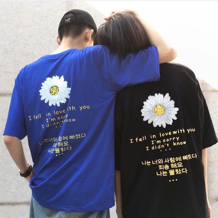 [SIÊU HOT] áo thun hè Bông hoa Cúc Chữ hàn (kèm ảnh thật)