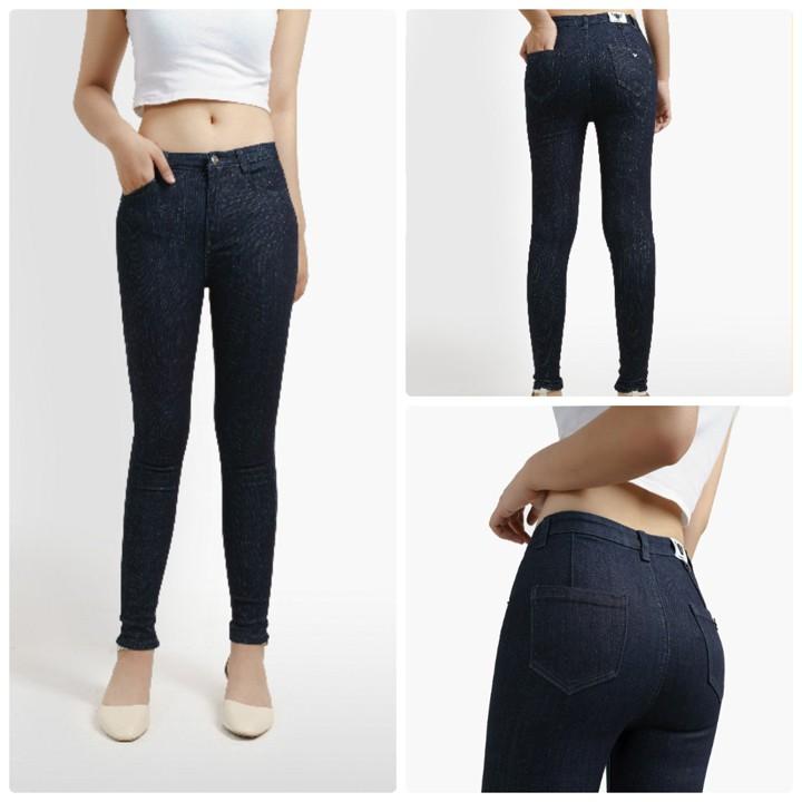 Quần jean nữ kim tuyến có 2 màu