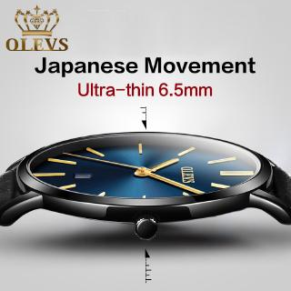 [Mã WTCHJAN giảm 20K ] OLEVS original ultra-thin Japanese movement watch quartz couple waterproof watches Đồng h