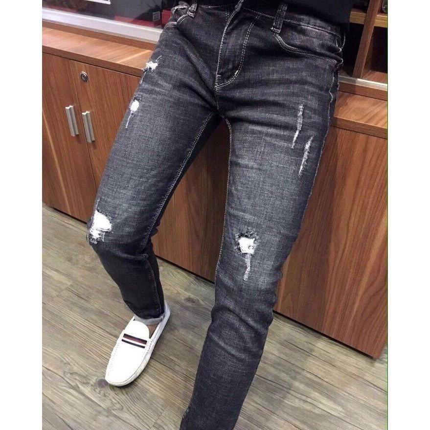 Quần Jean Nam Hàng Hiệu Cao Cấp Không Ra Màu Co Giãn mua quần jean nam ở sài gòn quần jean nam 1 màu hk36