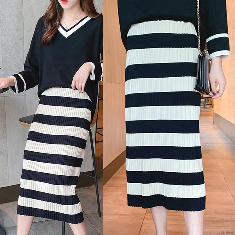 Chân váy dệt kim dáng dài thiết kế thanh lịch
