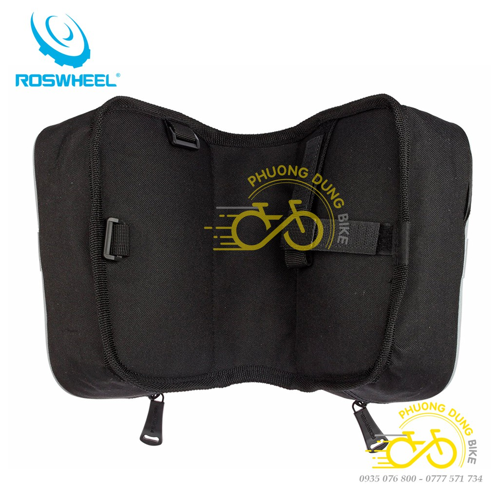 Túi đôi treo khung xe đạp Roswheel có ngăn điện thoại
