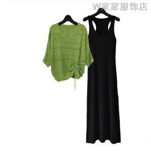 Set Áo Sweater Phối Chân Váy Lưới Thời Trang 2020 Xinh Xắn Cho Nữ