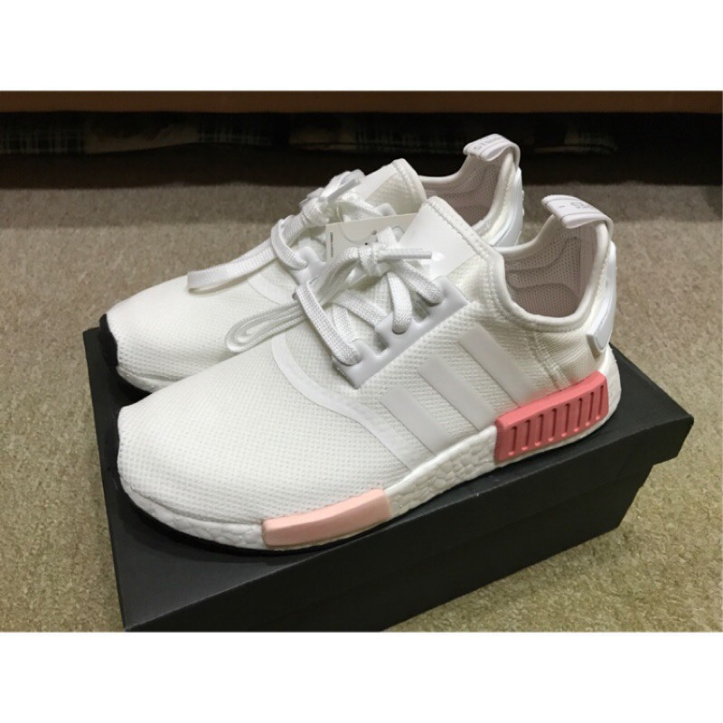 Hình ảnh 【Bắn thật】Adidas Nmd R1 White Rose Peach Powder White Rose Rose Girls Casual Shoes BY9952