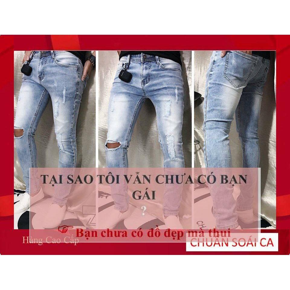 Quần Bò Nam Hàng Hiệu Tại Cần Thơ Phong Cách Đẳng Cấp,quần jean nam rách mới đẹp