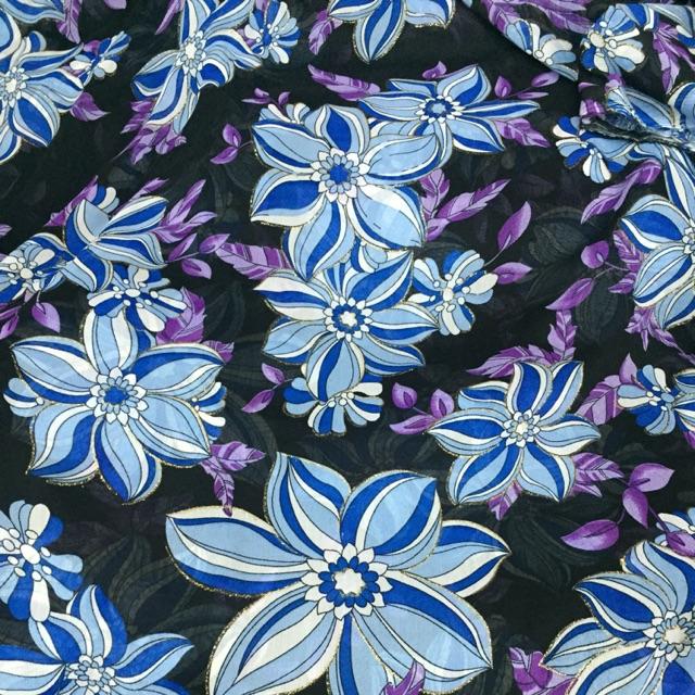 1112360295 - Vải voan hoa may đầm váy áo dài