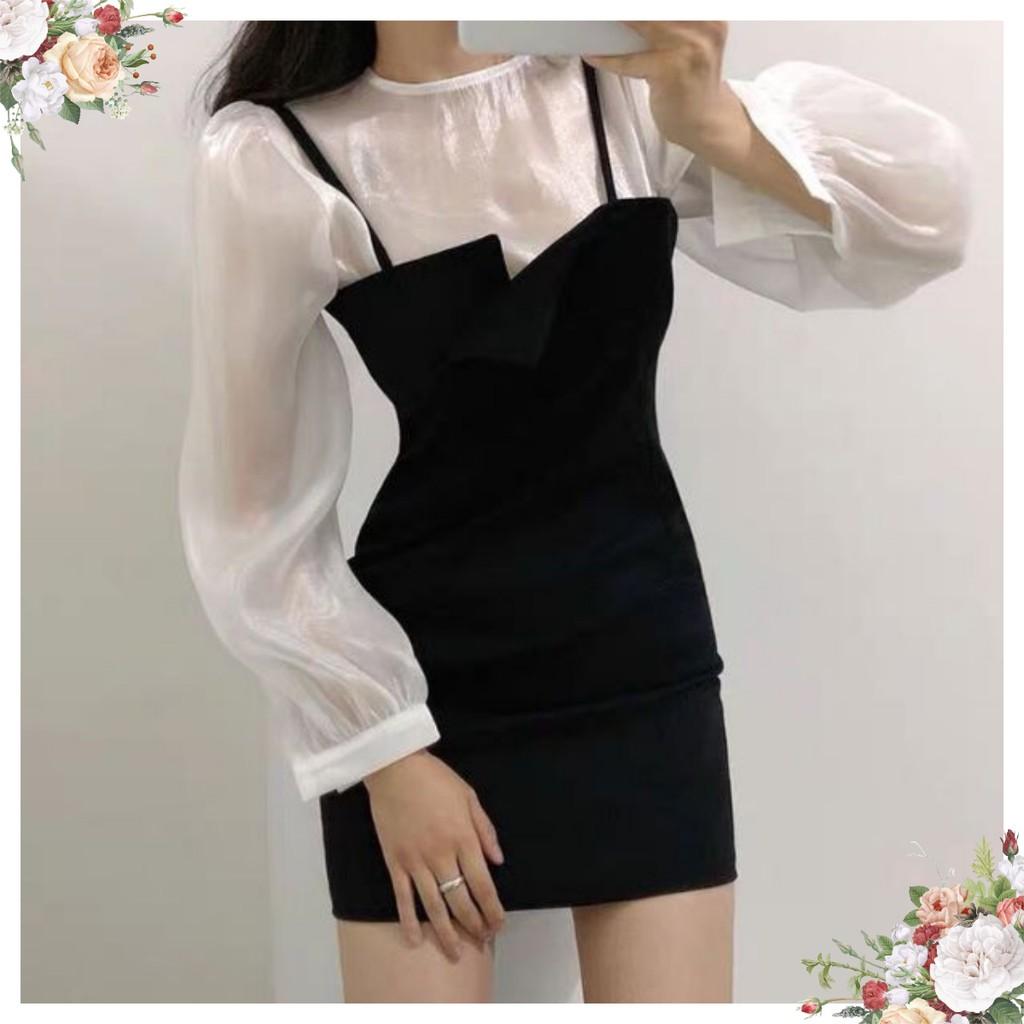[ SALE SẬP ] Set áo lụa kèm đầm [ SY00036 ] mẫu mới