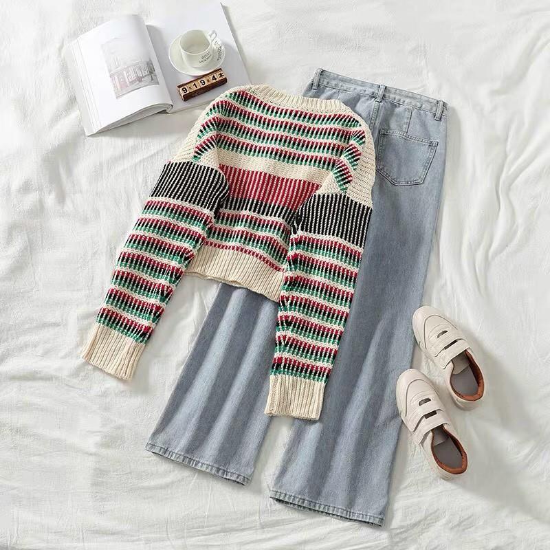 [ ORDER ] Set áo len quần jean ulzzang