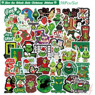 Hình ảnh How the Grinch Stole Christmas Series 02 - Jim Carrey Comedy Cartoon Movie Stickers 50Pcs/Set DIY Fashion Luggage Laptop Skateboard Decals Doodle Stickers