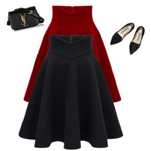 Chân Váy dài Lưng Cao Cách Điệu Có 2 túi - V02115100