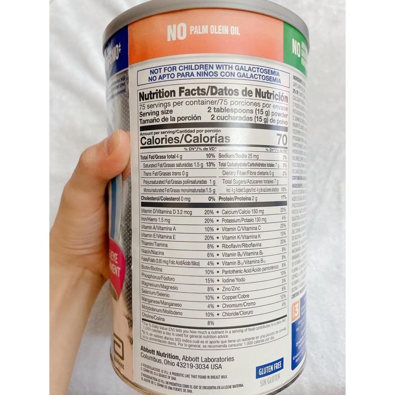 {Mẫu mới/Date mới}Sữa Bột Similac Go&Grow Toddler Drink Cho Bé Từ 12-36 tháng - 1.13kg Mỹ