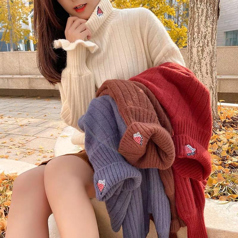 Bộ Áo Sweater Dài Tay Cổ Tròn + Chân Váy Xinh Xắn Dành Cho Bé Gái