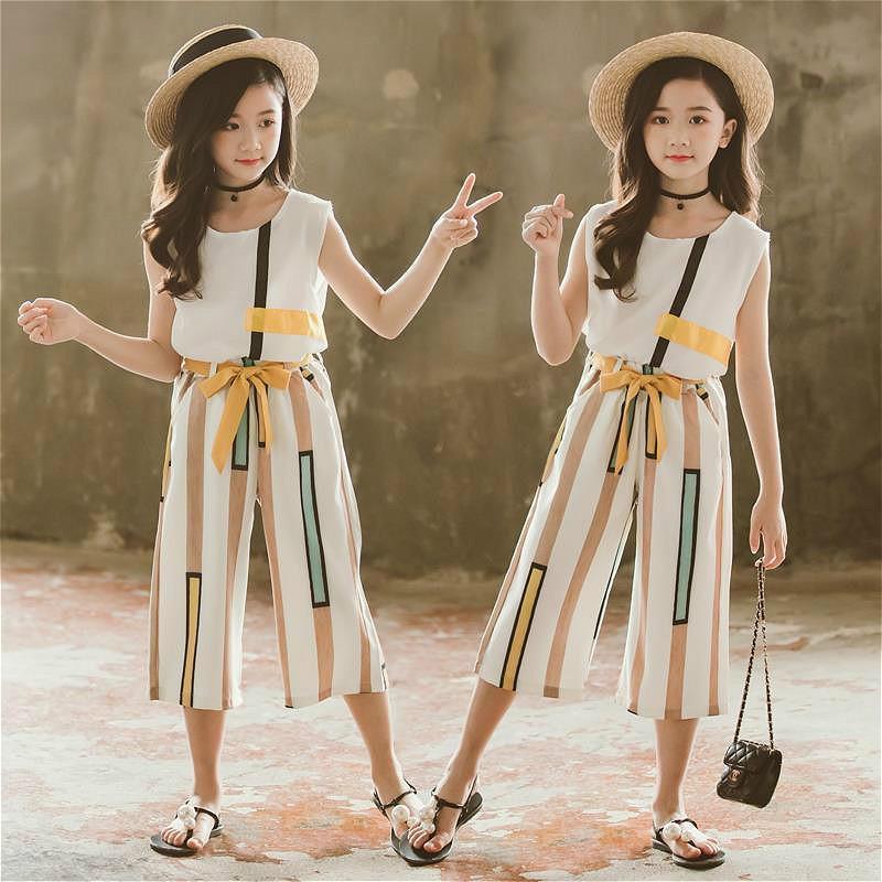 Set Áo Thun Ngắn Tay + Chân Váy Xòe Công Chúa Cho Bé Gái 2020