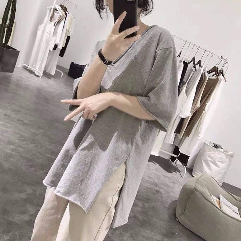 Hall Hội trường dành cho nữ Có thời gian đặc biệt 95 chiếc áo thun cotton chia tay mùa hè dành cho nữ là phiên bản mỏng