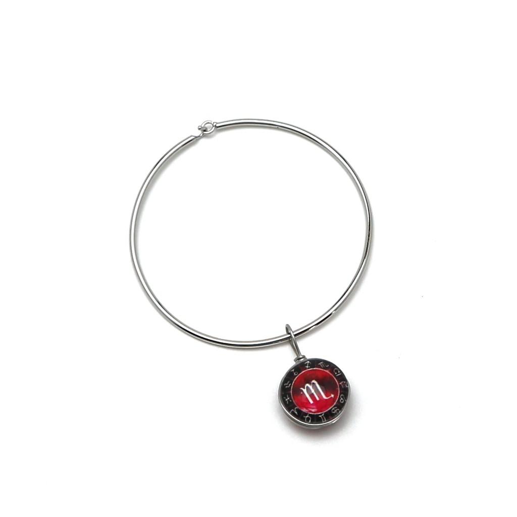 Vòng tay Inox 12 cung hoàng đạo - Cung Bọ Cạp - JHB0019 (Đỏ)